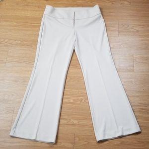 NY & Company Beige Flare Dress Pants size 12 M6